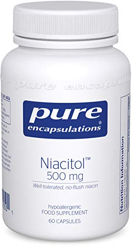 Pure Encapsulations - Niacitol (Vitamin B3) 500mg - Well-Tolerated, No-Flush Niacin Supplement for Metabolism Support, Tiredness and Fatigue - 60 Vegetarian Capsules