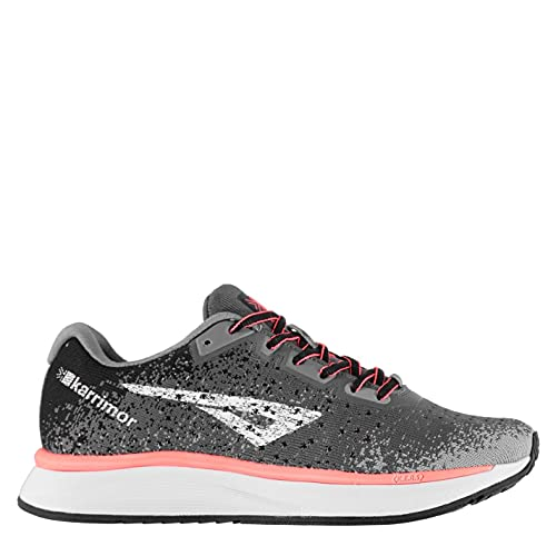 Karrimor Womens Rapid Trainers Road Running Shoes Lace Up Padded Ankle Collar Grey/Pink UK 6.5 (39.5)