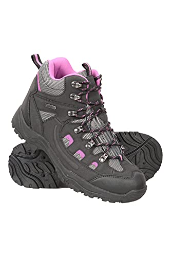Mountain Warehouse Adventurer Womens Waterproof Boots - Durable Hiking Shoes, Breathable, Synthetic Upper, Mesh Lining, Cushioned Footbed - Ideal for Walking & Trekking, Black, Womens Shoe Size 7 UK