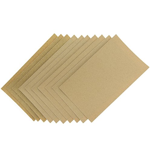Coral 74200 Essentials Abrasive Sandpaper Sheets with Fine Medium and Coarse Grits, Brown