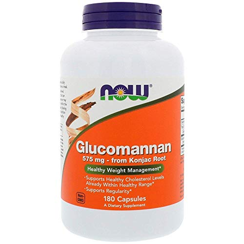 Now Foods Glucomannan, 575 mg, 180 Capsules