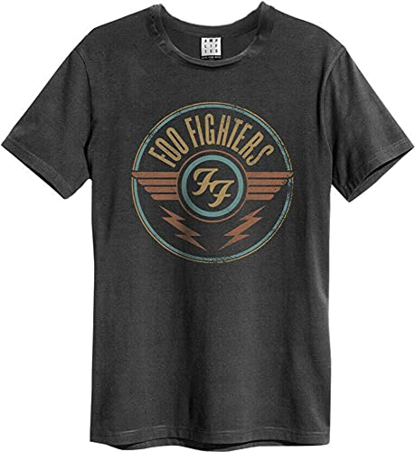 Amplified Men's Foo Fighters-FF Air T-Shirt, Grey (Charcoal Cc), (Size:XL)
