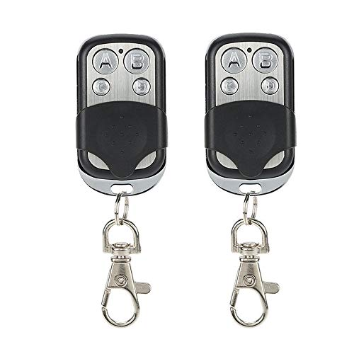 Sdreamland Garage Door Opener Remote, Universal Remote Control 433MHZ Programmable Learning 4-Buttons 433mhz Replacement Key Fob Copying Common Fixed and Learning Code Remote Controls (2Pack)