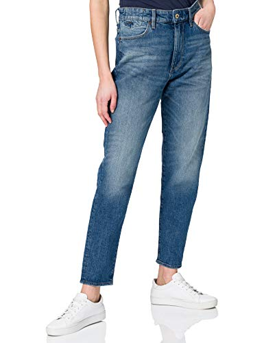 G-STAR RAW Women's Janeh Ultra High Waist Mom Ankle Jeans, Faded Riverblue C529-c289, 26W / 30L