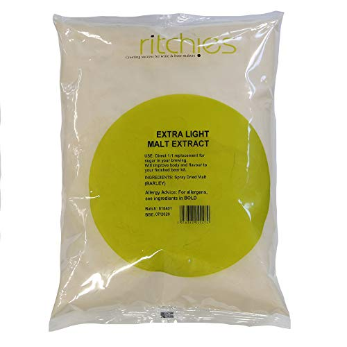 Ritchies Extra Light Spray Dried Malt Extra DME 1kg - Home Brew Beer Kits