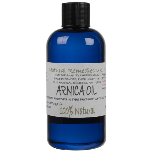 Natural Arnica Oil (Heterotheca inuloides) 100ml: Ready to apply, Rub on Unscented Massage & Carrier Oil