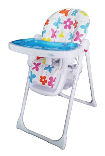 Bebe Style Hilo Multi-Function Recline Foldable Highchair (6 Months or When Baby Can Sit Independently) (Flower Burst)