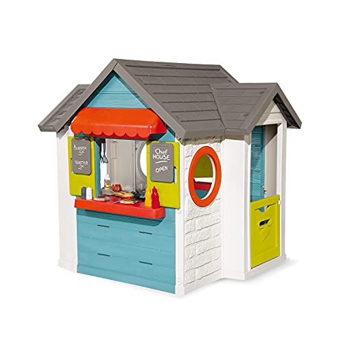 SMOBY KIDS CHEF PLAYHOUSE AND KITCHEN WITH 37 ACCESSORIES (1.4M TALL)