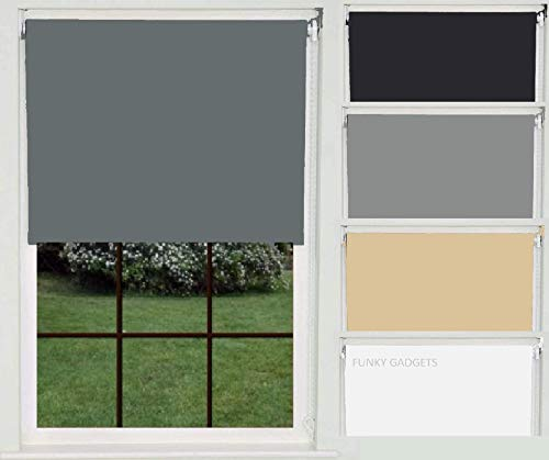funky gadgets @ Thermal Blackout Roller Blind Trimmable UV-resistant colour coded fabric Bracket Included