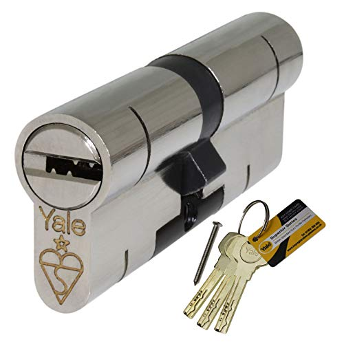40/50 Nickel Yale Superior Euro Cylinder with 3 Keys Anti Snap/Bump/Pick/Drill/Pull High Security uPVC Composite Door Barrel Profile Lock