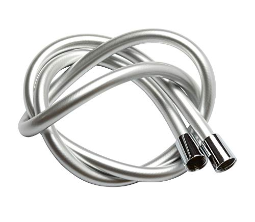 Krodo PVC Smooth Shower Hose 1.5M / 59 Inch with Anti-Twist Brass Connections - Universal Replacement, Flexible, Kink and Leak Proof