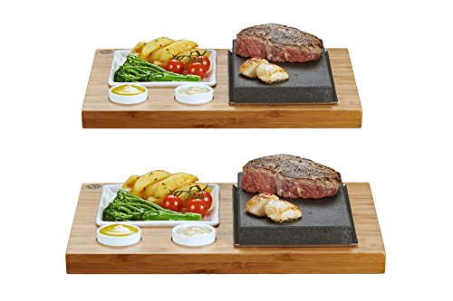 SteakStones Official Products, Save £40 on Two Sets of The SteakStones Steak, Sides and Sauces Set, The Best Way to Enjoy Steak on The Stone with The World's Leading Hot Stone Cooking Company