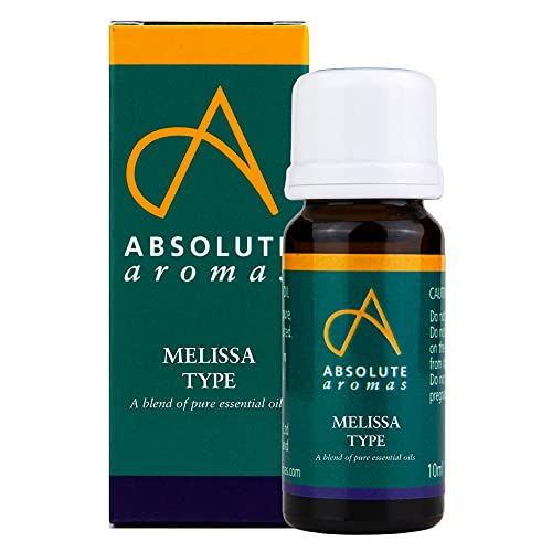 Absolute Aromas Melissa Type 10ml - A blend of 100% Pure, Natural, Undiluted, Vegan and Cruelty-Free Essential Oils resembling the aroma of Melissa - For use in Diffusers and Aromatherapy Blends