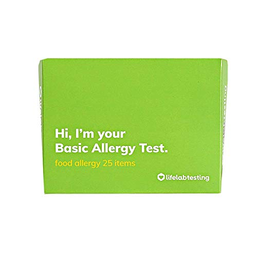 Lifelab   Basic Food and Allergy Body Testing Kit  at-Home Easy Test for Food Drink Allergies Testing Kit Dietary Intolerance  Single Self Use Professional Equipment with Lab Results Included