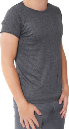 Twin Pack of Mens Thermal Short Sleeved Tshirt Size: 3XL (XXXL) Colour: Dark Grey / Charcoal