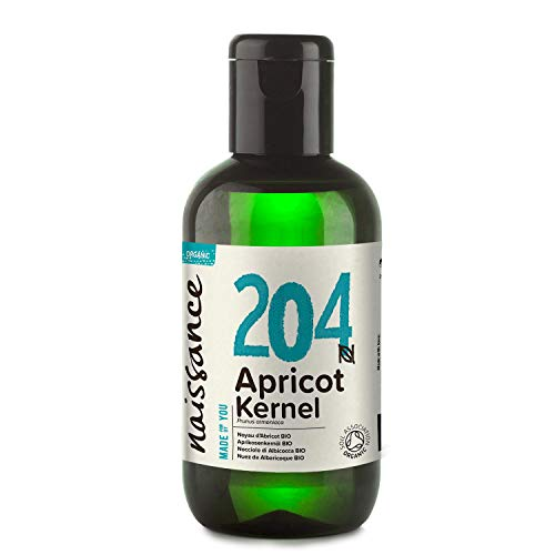 Naissance Certified Organic Apricot Kernel Oil (no. 204) 100ml - Pure, Natural, Cold Pressed, Vegan, Hexane Free, No GMO, For Aromatherapy & as Massage Base Oil - Moisturises & Conditions Hair & Skin