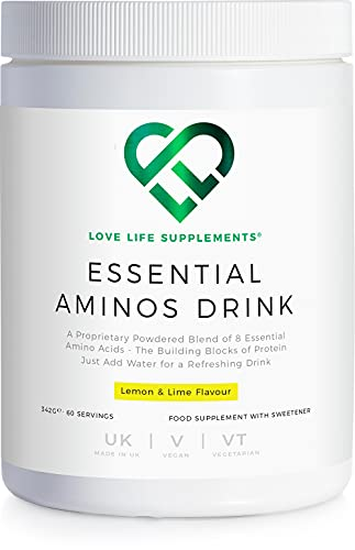 Essential Amino Acid (EAA) Drink by LLS | Lemon & Lime Flavour | 342g - 60 Servings (5g of EAA's per Serving) | Love Life Supplements - 'Clean, Effective, High Quality'
