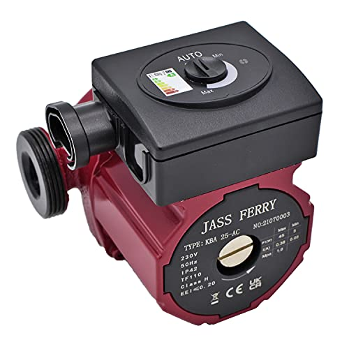 JASSFERRY A-Rated Central Heating Pump Boiler Circulator Energy Saving for Hot Water Circulation Systems Replacement 5 Years Warranty