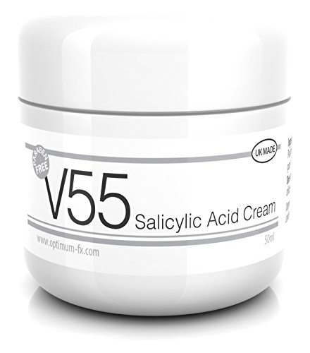V55 Salicylic Acid Cream for Spots Blackheads Blemishes and Problem Skin Suitable and Safe for Those Prone to Acne - Paraben and Cruelty Free - 50 Grams