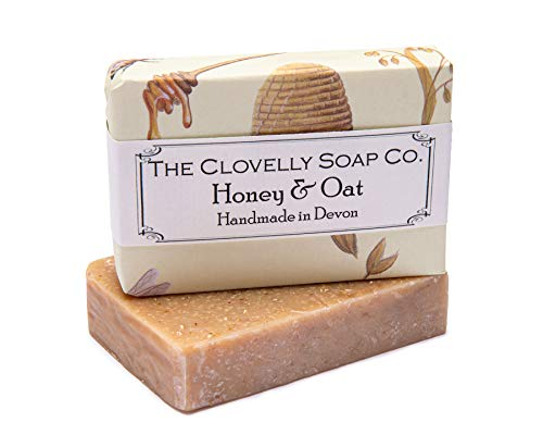 Clovelly Soap Co Natural Handmade Exfoliating Soap Bar with Honey & Oat for all Skin Types 100g