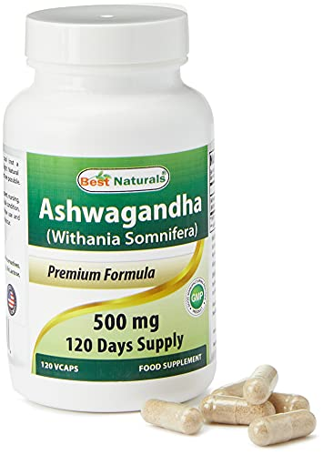 Best Naturals Ashwagandha 500 mg 120 Capsules - Known as Withania Somnifera