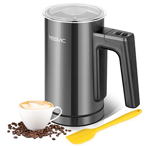 YISSVIC Milk Frother Electric Milk Steamer 300ml Automatic Milk Frother Hot and Cold with Non-Stick Coating for Coffee Cappuccino Hot Chocolate