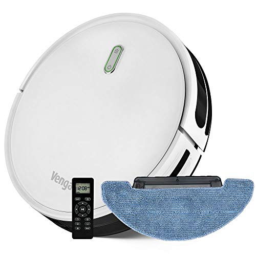 Venga! Robot Vacuum Cleaner, with Mop, Easy to Use, 6 Cleaning Modes, Quiet Operation, White, VG RVC 3000 BS