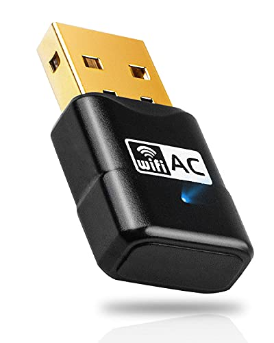 Maxesla WiFi Dongle for PC, Mini Blazing Fast AC600Mbps USB Wifi Adapter, High Gain Dual Band 2.4&5GHz Internet USB Adapter for PC Desktop Laptop,Powerful PC Wifi Adapter for Windows 7,8,10,XP,Mac