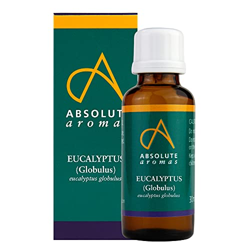 Absolute Aromas Eucalyptus Essential Oil 30ml - 100% Pure, Natural and Undiluted - an Antiseptic and Antibacterial Oil to Soothe and Clear - for use in Diffusers and Aromatherapy