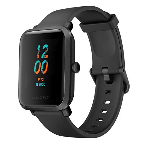 Amazfit Bip S Smart Watch Fitness Watch with Heart Rate Monitor, Sports Watch with 17 Sports Modes, 15 Days of Battery Life, 5 ATM Waterproof, GPS, Music Control, Black