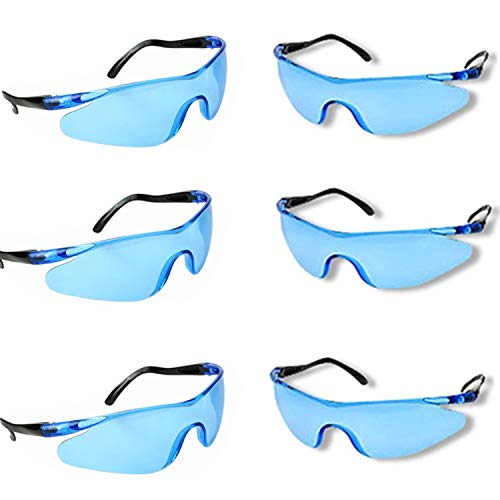 YAAVAAW Safety Glasses-6 Pack Safety Protective Glasses,Safety Goggles Eyewear Eyeglasses for Eye Protection-Great Goggles for Kids Nerf Gun Battles & Laboratory Work Safety Glasses