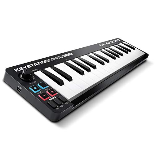 M-Audio Keystation Mini 32 MK3 - Portable USB MIDI Keyboard Controller for Mobile Music Production with ProTools   First M-Audio Edition