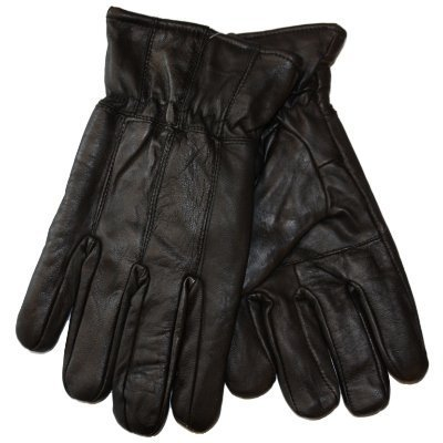 New Mens Thermal Lined Super Soft Fine Leather Warm Winter Dress Gloves Available in Black & Brown (Black Large/X-Large)