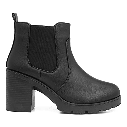 Lilley Womens Heeled Chelsea Boot in Black - Size 4 UK - Black