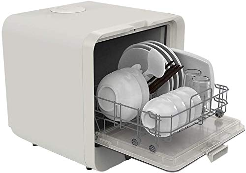 220V Mini Dishwasher, 4 Programs Fast Fruit Disinfection, 5L Water Requirement, Simple Control Operation Table Dishwasher Kitchen Dish Rack Dryer