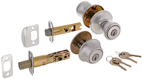 Kwikset 690T 26D SMT RCAL RCS 690 Tylo Keyed Entry Knob and Single Cylinder Deadbolt Combo Pack Featuring Smart Key, Satin Chrome
