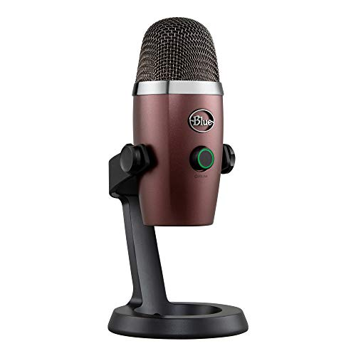 Blue Microphones 988-000202 Yeti Nano Professional Condenser USB Microphone with Multiple Pickup Patterns & No-Latency Monitoring for Recording and Streaming on PC and Mac, Red Onyx