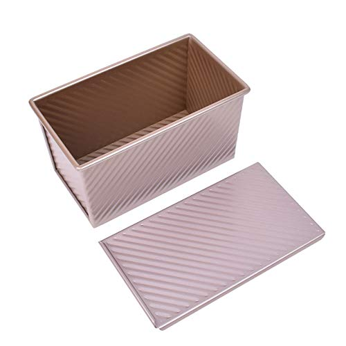 DEDC Baking Bread Pan with Lid, Non-Stick Bakeware Aluminum Alloy Bread Toast Mold Loaf Pan for Baking Toast Bread