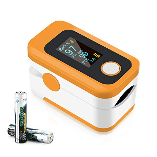 Pulse Oximeter NHS Approved UK, Pulse Oximeter,Heart Rate Monitor with OLED Display Measures Pulse Rate and Blood SpO2 Level,Portable Pulse oximeter for Monitoring Adults and Children