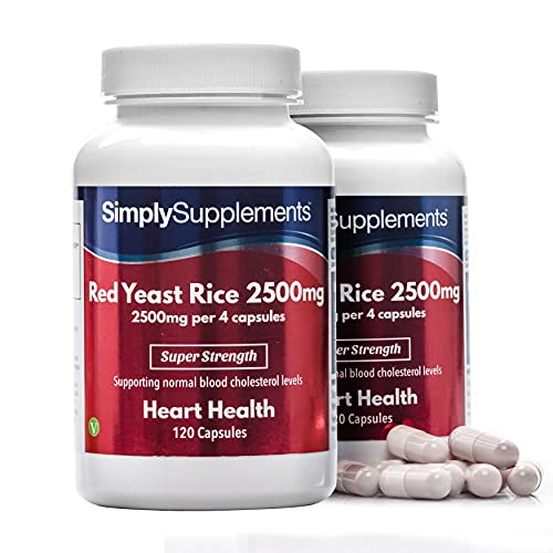 Red Yeast Rice 2500mg Super Strength   Supports Healthy Cholesterol Levels   Vegan & Vegetarian Friendly   240 Capsules in Total = 60 Day Supply   Manufactured in The UK