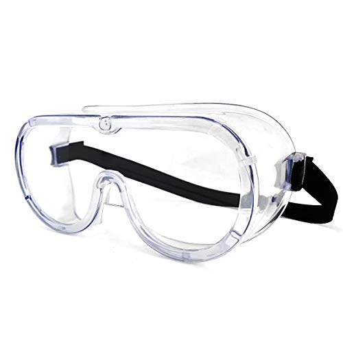 Safety Goggles Clear Wraparound Safety Glasses Eye Impacted Sealed Protective Work Goggles Over Spectacles for DIY Lab Grinding etc GENERAL PURPOSE GOGGLES CLEAR