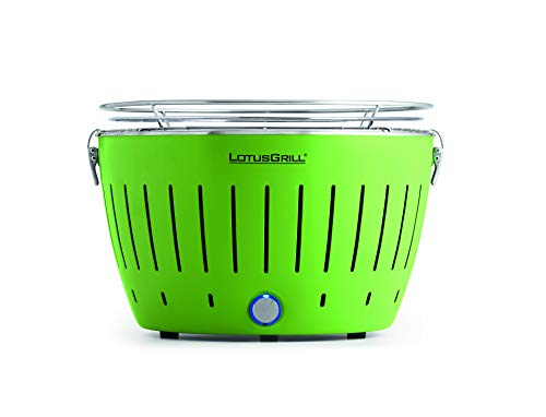 Lotus Grill–G Gr 34Grill Charcoal Grill Kettle, Green, Round, Plastic, Stainless Steel, Stainless Steel)