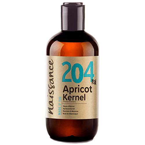 Naissance Apricot Kernel Oil 250ml - Pure, Natural, Vegan, No GMO - Ideal for Aromatherapy and as a Massage Base Oil - Moisturises & Conditions Hair & Skin
