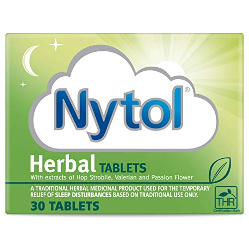 Nytol Herbal Tablets - Remedy for Sleeplessness Relief - 30 Tablets