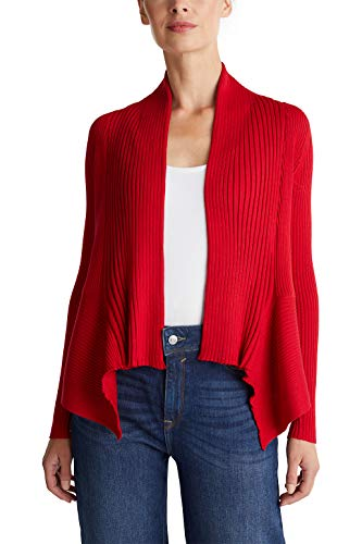 ESPRIT Women's 998ee1i803 Cardigan, Red (Red 3 632), Small