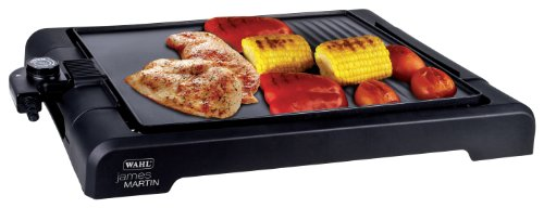 Wahl James Martin Tabletop Grill, Versatile Griddle, Hot Plate, Grill with Flat Plate, Grill for Healthy Food, Ridged Griddle, Easy Clean, Non Stick, Party Table Top Cooking