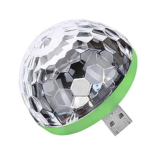 Youool USB Mini Disco Light (Android Connector), Party Car Atmosphere Lights LED Small Disco Ball USB Powered Stage Light RGB Stage Decoration Projector Rotating Mirror Disco Ball
