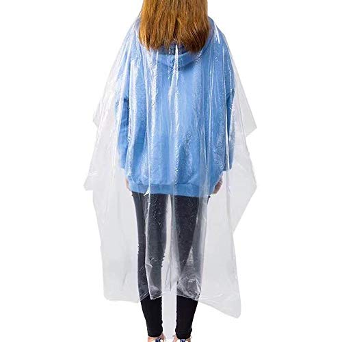 VAINECHAY 50pcs Disposable Hair Cutting Apron Hair Salon Cape Protective Coveralls Gowns Waterproof Protection Capes Transparent Cloth 35.4