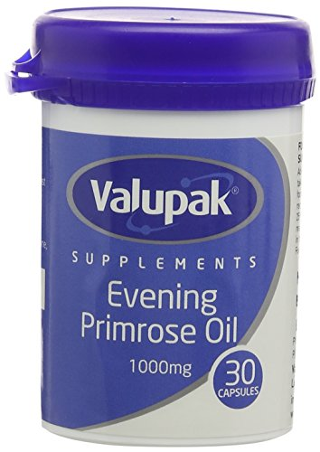 VALUPACK, Other, 30 Count (Pack of 1) 1000mg Evening Primrose Oil Capsules - Pack of 30