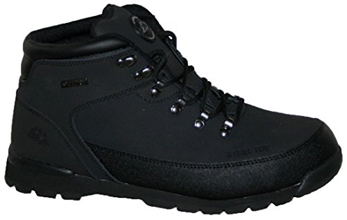 MENS LEATHER UPPERS SMART/CASUAL LACE UP STEEL TOE CAP SAFETY BOOT BLACK 8
